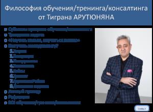 Обучение управлению – философия от Тиграна АРУТЮНЯНА